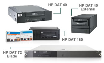 Click here for more HP Tape Drives & Blades storage products
